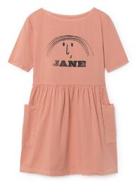 Bobo Choses - Little Jane Pockets Dress, strawberry