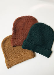 Monkind - Moss Knit Beanie, Moss Green