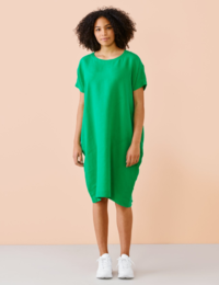 Papu - LINEN DRESS, green