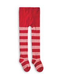 mini rodini - Stripe tights, red
