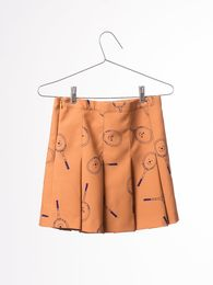 Bobo Choses - Pleated skirt tennis, golden