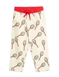 Mini Rodini - Tennis aop trousers, white