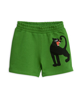 Mini Rodini - Panther sp sweatshorts, Green