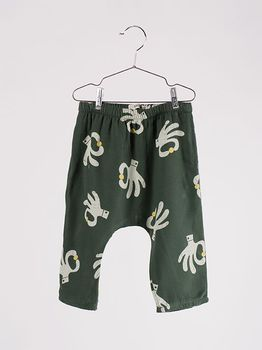Bobo Choses - Baby baggy pants hand trick, garden