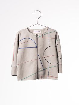 Bobo Choses - Baby zip sweatshirt Court