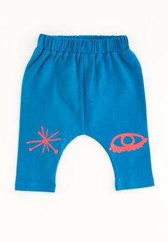 Nadadelazos - Eye and star leggings, klein blue