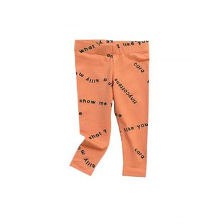 Tinycottons - Many word pants, dark salmon