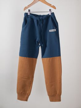 Bobo Choses - Trousers biocolor, blue/rust