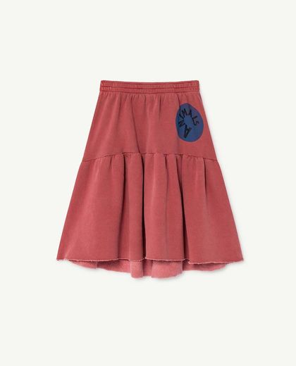 TAO - CAT KIDS SKIRT, RED ANIMALS