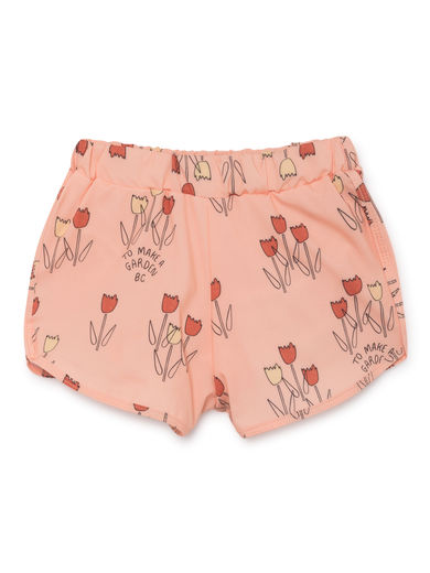 Bobo Choses - Poppy Prairie Swim Trunk, Rose Dust (119277)
