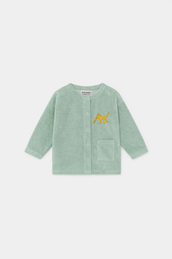 Bobo Choses - Leopard Buttoned Sweatshirt, Frosty Green 12000022