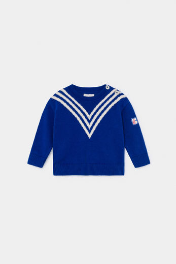 Bobo Choses - Three Stripes Knitted Jumper 12000092