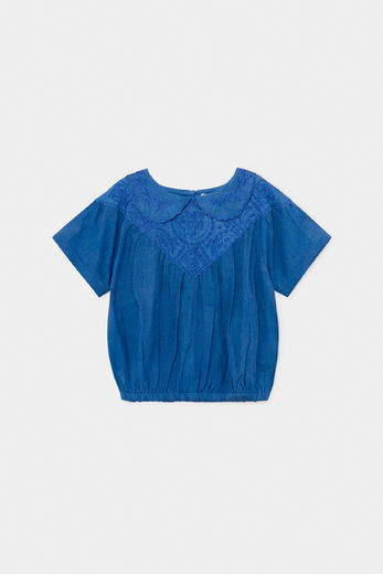 Bobo Choses -  Embroidery Short Sleeve Blouse 12001060