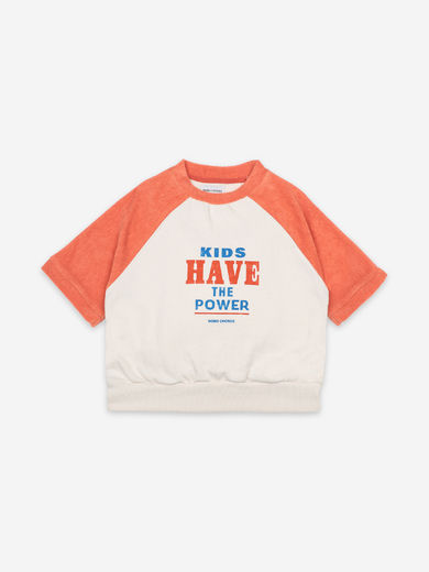 Bobo Choses - Kids Have The Power Short Sleeve Sweatshirt, 121AC045