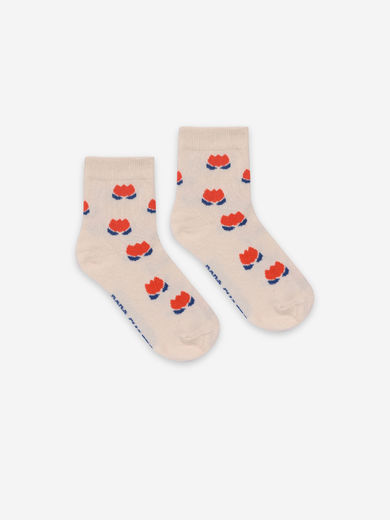 Bobo Choses - Red Chocolate Flowers Short Socks, 121AI028