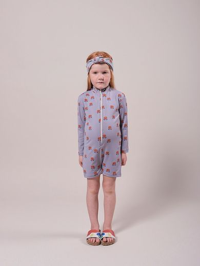 Bobo Choses - Chocolate Flowers All Over Swim Playsuit, 121AC153