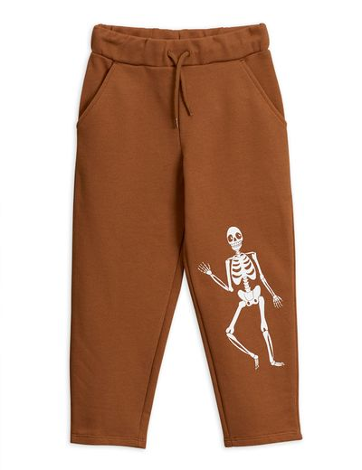 Mini Rodini - Skeleton sp sweatpants, Brown