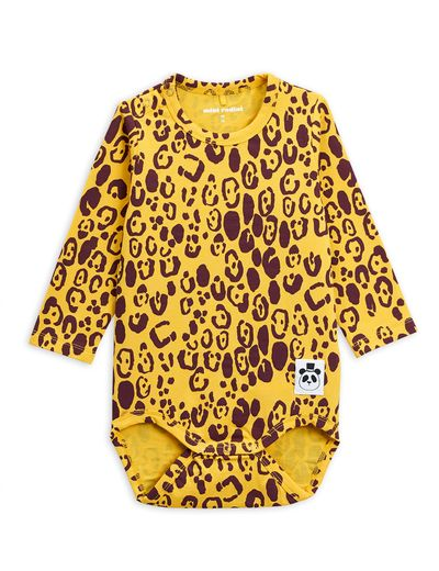 Mini Rodini - Leopard ls body, yellow