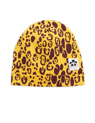 Mini Rodini - Leopard beanie, yellow