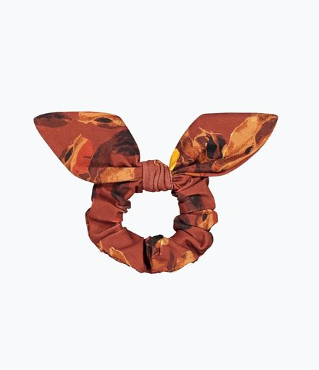 Kaiko - Bow scrunchie, Amber orange