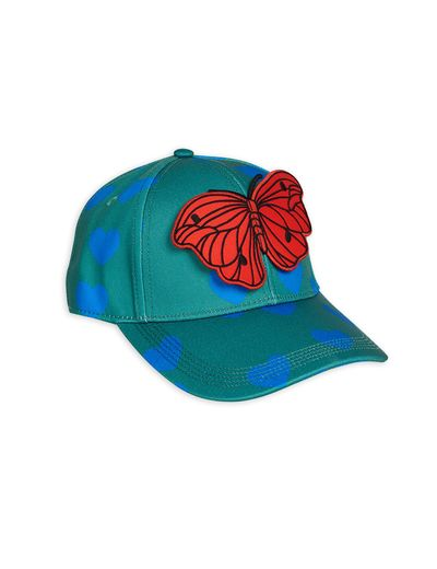 Mini Rodini - Hearts cap, Green