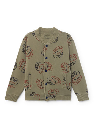 Bobo Choses - Happy Sad Buttons Sweatshirt, Deep Lichen Green