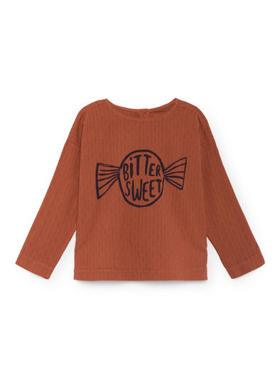 Bobo Choses - Bitter Sweet Round Neck Shirt, Burnt Ochre