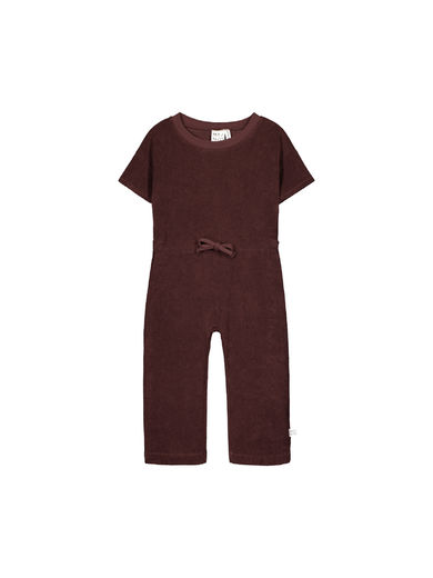 Mainio - Crew terry jumpsuit, Raisin (50012)
