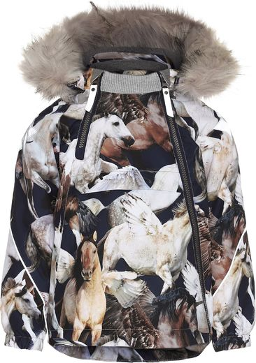 Molo Kids - Hopla Fur jacket, Unicorn and Pegasus