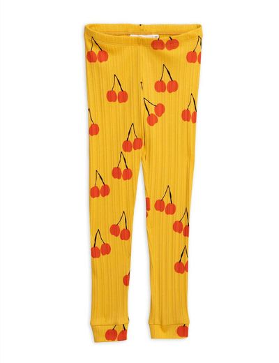 Mini Rodini - Cherry leggings, yellow