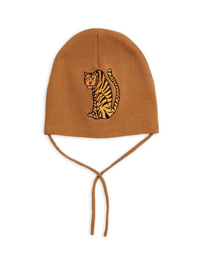 Mini Rodini - Tiger patch hat, Brown
