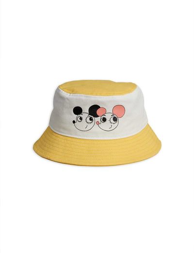 Mini Rodini - Ritzratz bucket hat, yellow