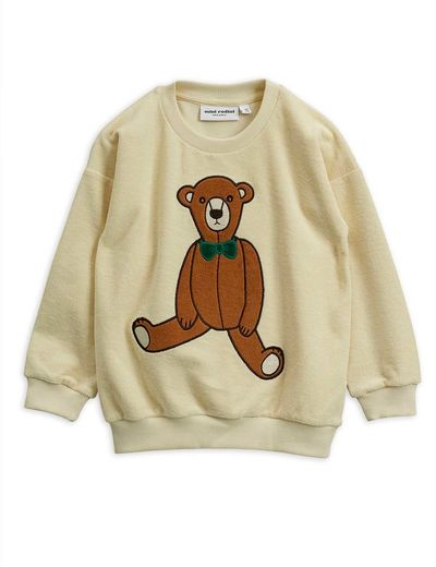 Mini Rodini - Teddy patch terry sweatshirt , Offwhite