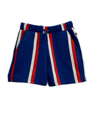 Mini Rodini - Stripe sweatshorts, Blue
