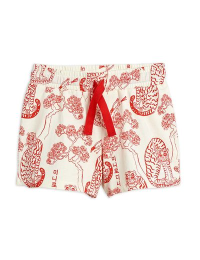 Mini Rodini - Tigers aop shorts, Offwhite