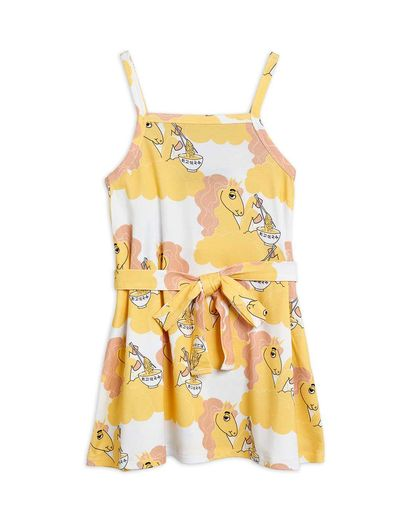 Mini Rodini - Unicorn noodles tank dress, Yellow (2125013223)