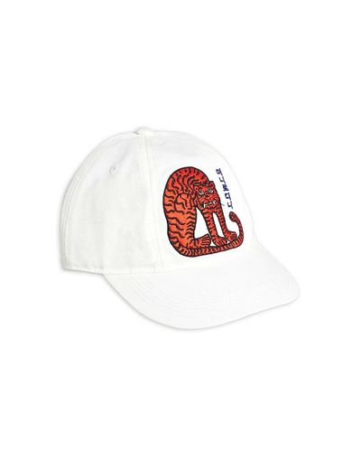 Mini Rodini - Tiger soft cap, Offwhite