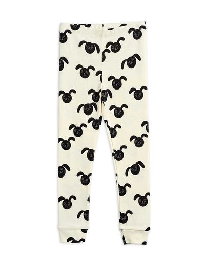 Mini Rodini - Rabbits aop leggings, Black