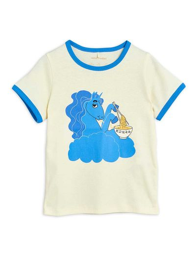 Mini Rodini - Unicorn noodles sp ss tee, Blue (2122014260)
