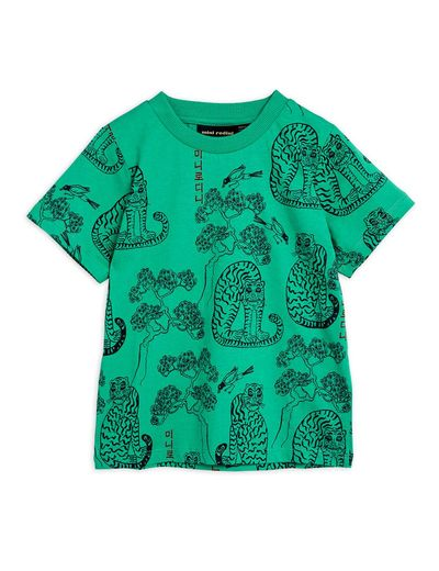 Mini Rodini - Tigers aop ss tee, Green