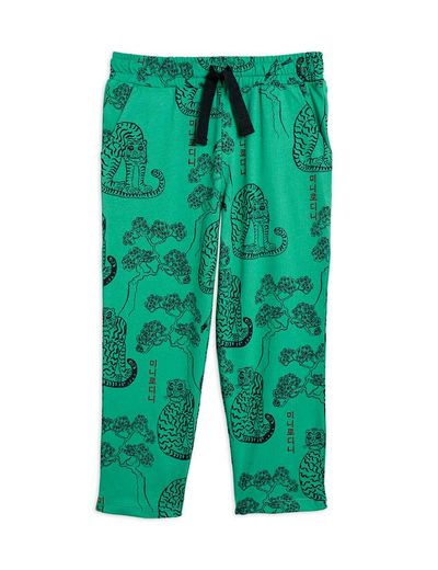 Mini Rodini - Tigers aop trousers, Green