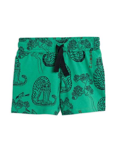 Mini Rodini - Tigers aop shorts, Green