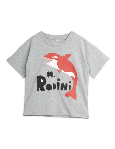 Mini Rodini - Orca sp tee, Grey melange