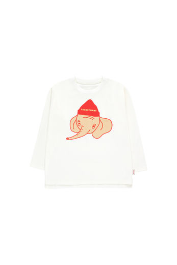 Tinycottons - LUCKYPHANT LS TEE, off-white/sand