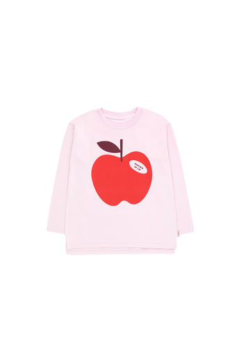 Tinycottons - APPLE LS TEE, pale pink / burgundy