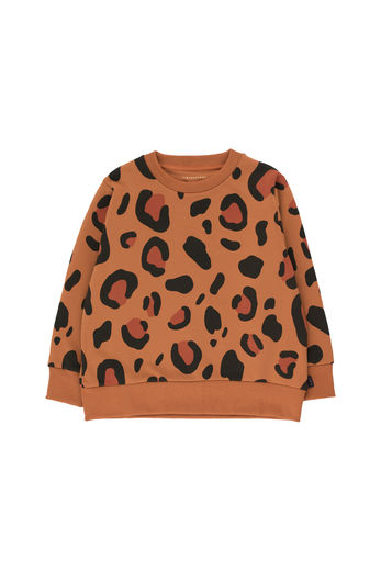 Tinycottons - ANIMAL PRINT SWEATSHIRT, brown/dark brown