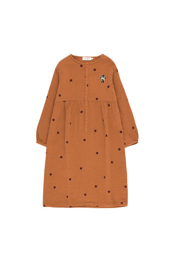 "Tinycottons - DOTS ""CAT"" DRESS, brown / aubergine"