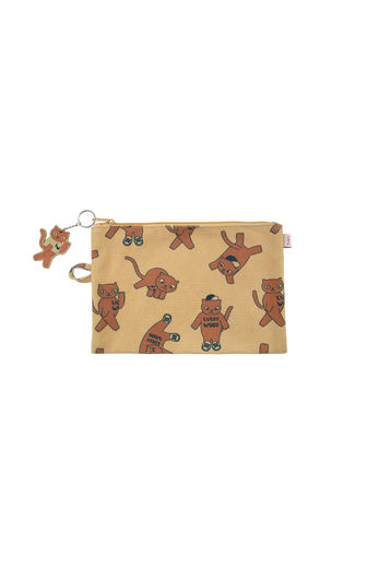 Tinycottons - CATS POUCH, sand/brown
