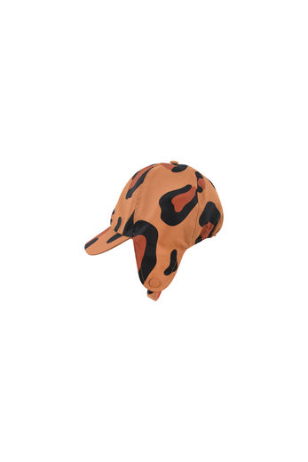 Tinycottons - ANIMAL PRINT SNOW HAT, brown/dark brown