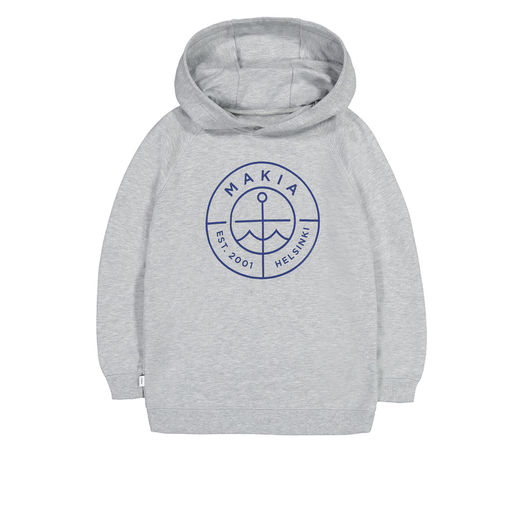 Makia - Scope Hooded Sweatshirt, Light Grey